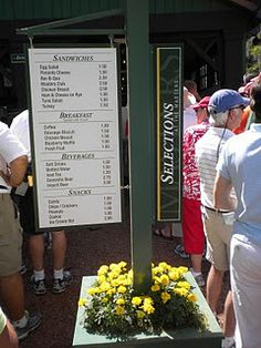 Snacks at The Masters, Augusta GA.  Done. Check.