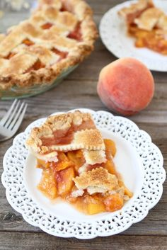 Peach Pie with Buttermilk Crust 13040101 ~ You can't beat a slice of homemade peach pie. Be sure to have vanilla ice cream on hand....