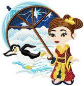 Eskimo kids Embroidery Designs. A beautiful Artic designs to add to your embroidery design collection. just visit http://www.embroideryhorizons.com/store/category/eskimos-designs/ Enjoy ^____^