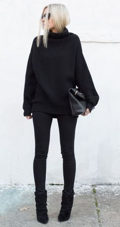 black on black fall style
