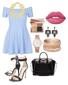 """""""Completo"""" by clarisaguerra-243 on Polyvore featuring moda, New Look, Gianvito Rossi, Givenchy, Larsson & Jennings, Red Camel, Lulu Frost, Rivka Friedman, Bobbi Brown Cosmetics y Lime Crime"""