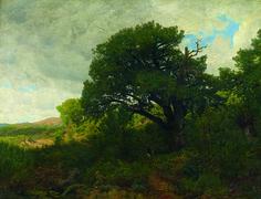 Antonio Fontanesi (?) - La quercia - 1860-1870 - Paesaggi e vedute - Accademia Carrara di Bergamo Pinacoteca