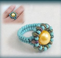 Bead WRapped Pearl Ring