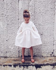 white dress, pure and simple beauty.  #kids #estella #fashion