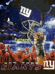 York Giants Helmets. Cross Stitch Patterns. Paper Version Or Pdf Files.