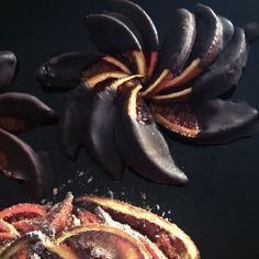 #Chocolate dipped blood orange segments. Hell to the yes... #food #dessert