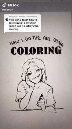 Digital Painting Tutorials, Digital Art Tutorial, Drawing Tutorials, Drawing Techniques, Drawing Tips, Art Tutorials, Drawing Stuff, Digital Art Beginner, Digital Art Anime