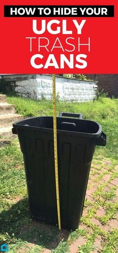 Give your ugly trash can a makeover, and say goodbye to boring garbage cans.