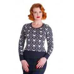 Pull Jumper Pin-Up Rétro Rockabilly 50's Aurora