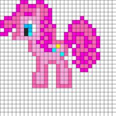 Pinkey Pie Perler Bead Pattern | Perler Bead Patterns | Characters Fuse Bead Patterns