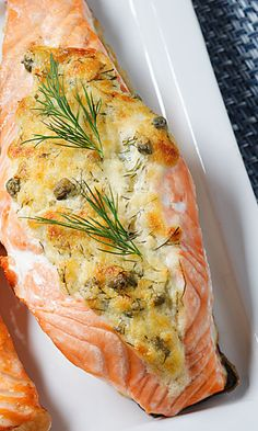 Tuorejuustotäytteiset lohitaskut | Salmon Recipes, Seafood Recipes, Low Carb Recipes, Vegan Recipes, Finnish Recipes, Healthy Gourmet, Food Porn, Sweet Sauce, Fish And Seafood