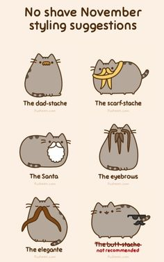 The Movember Foundation encourages mustache-growing in November to bring awareness to men's health. These cats look ready for the campaign.