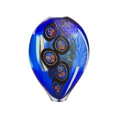Studio Salvadore Royal Blue Murano Large Vase ($6,925) ❤ liked on Polyvore featuring home, home decor, vases, blue, murano vase, glass home decor, handmade glass vase, blue glass vase and hand blown glass vases