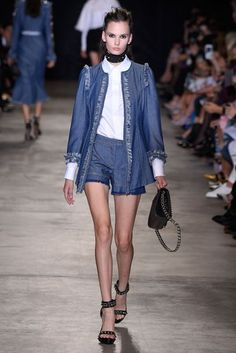 Andrew Gn Spring/Summer 2017 - Demin Long Jacket and Shorts