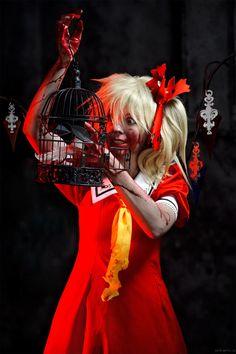 Flandre Scarlet cosplay Koumajou Densetsu by Tenori-Tiger on DeviantArt Touhou Cosplay, Make Art, Cosplay Girls, Traditional Dresses, Scarlet, Kawaii, Deviantart, Costumes, Flan