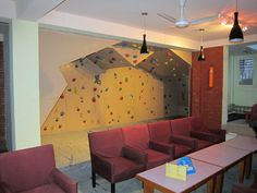 Indoor climbing wall: WANT. Future house, yes please.