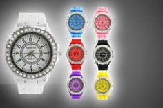 Swarovski Elements Silicone Watch