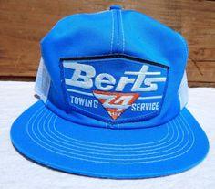675d8b5ac53 True-Vintage-Snapback-Trucker-Hat-NOS-Berts-Towing-Mesh-Cap -One-Size-Adjustable