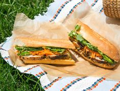 "These aren't the most authentic (we skipped the pâté and didn't pickle our veggies, for starters) but they are seriously good. Buy the cheapest ""French-style"" baguette you can find—the fancy ones won't give you the …"