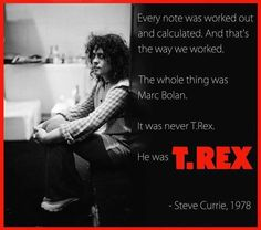 Steve Currie quote about Marc Bolan