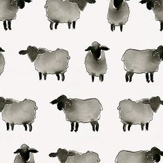 Amazon.com: Carousel Designs Watercolor Sheep Fabric by The Yard - Organic 100% Cotton