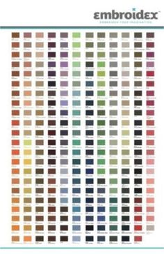 embroidex thread color chart - Google Search