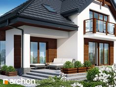 Dom w kalateach 3 Apartment Balcony Decorating, Apartment Balconies, Dream House Exterior, Modern House Plans, Home Fashion, My Dream Home, Home Projects, My House, Beautiful Homes