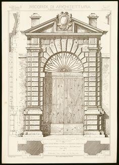 Ricordi di architettura : raccolti autografati e pubblicati da una società di architetti fiorentini • Anno: serie 2, vol. 3, 1892-1893