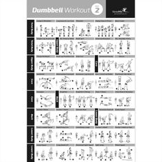 """Dumbbell Exercise Poster Vol. 2 - Laminated - 20""""x30"""""""