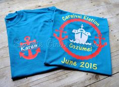 Custom cruise t-shirts. You choose colors. Adult sizes S to 5XL