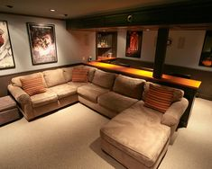 Basement Home Theater   Traditional   Media Room   Boston   Backwoods  Compatible
