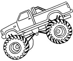 Monster Truck Off Road Coloring Page - Off Road Car coloring pages