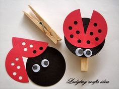 Ladybug Crafts Idea for Kids - Preschool Crafts