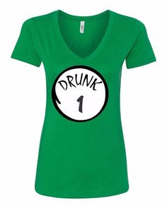 Drunk 1 Drunk 2 Up to drunk 10 Irish shirts St.Patrick's Day Shirts Women's V-NECK