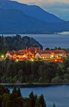 Sunset at Llao Llao Hotel & Resort, Golf - Spa Patagonia, Bariloche, Argentina. Argentina Tourism, Argentina Culture, Visit Argentina, Ushuaia, Great Places, Beautiful Places, Places To Travel, Places To Visit, South America Travel
