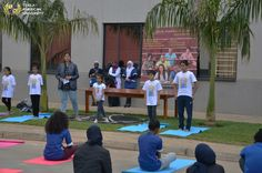 Dr.Sharanya D. presiding over the yoga session