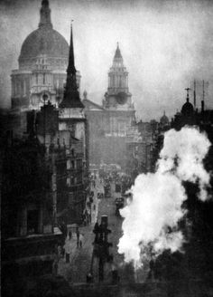 undr:    Alvin Langdon Coburn  St Paul's Cathedral from Ludgate Circus.1905