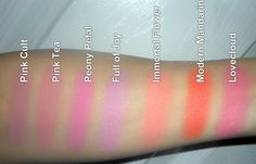 MAC blush colors. Immortal flower and Pink tea are the best color for me ;)