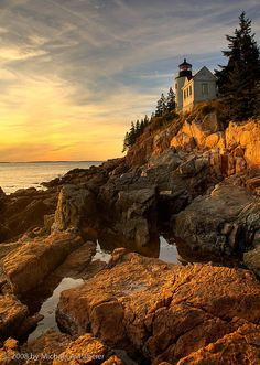 Bass Harbor Light Sunset - Maine