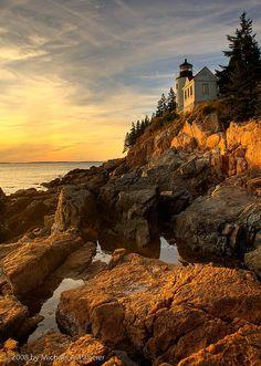 Bass Harbor Light Sunset - Maine