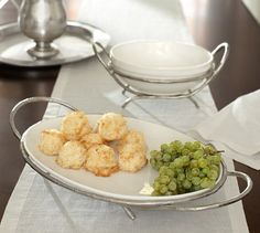 Caroline Oval Serve Bowl & Stand | Pottery Barn