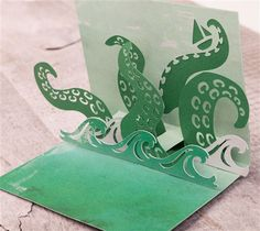 Sea Monster Pop-Up Card