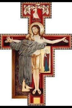 Francis of Assisi Catholic Art, Catholic Saints, Patron Saints, Roman Catholic, Religious Icons, Religious Art, Ste Claire, San Damian, St Francisco