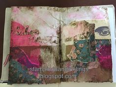 art journal by Caroline Duncan ~ Stampings and Inklings ~ inspiration Wednesday with Donna Downey