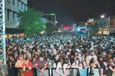 The streets of downtown Norman, Oklahoma are packed with music lovers ready to hear hundreds of bands perform at Norman Music Festival each April.
