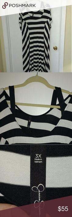 Jessica Simpson Dress NWT Black & White Striped Dress,.  NWT Armpit to Armpit is 23 inches. Jessica Simpson Dresses