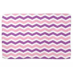 Pink and Purple Chevron Hand Towels