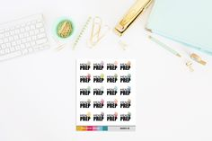Meal Prep Planner Stickers (20 Stickers) by TheCleverDesign on Etsy