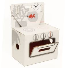 Kidsonroof : Cocorico cooker. Made from recycled cardboard. Prezzo contenuto!