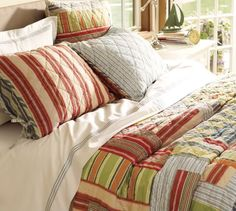 Window Treatments for the Master Bedroom   The Lettered Cottage  Pottery Barn quilt
